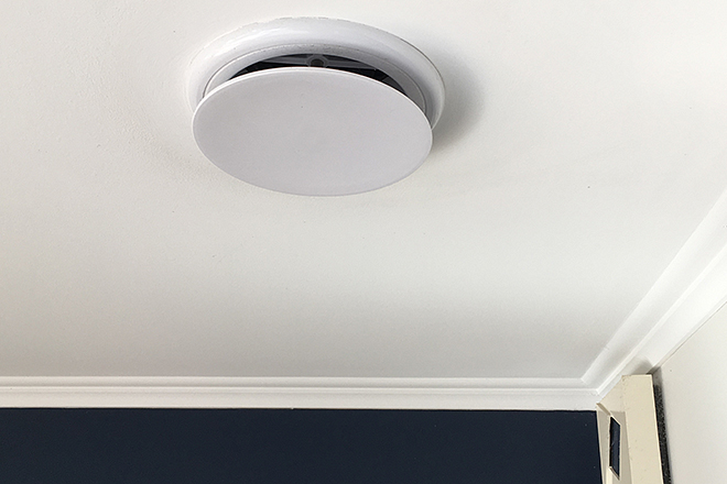 Ceiling mounted heat vent